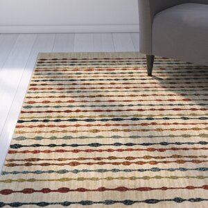 Brookline Bubbles Beige Area Rug