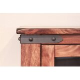 Console Table with 4 Glass Door by Artisan Home Furniture