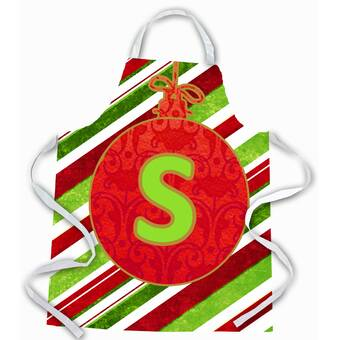 The Holiday Aisle Christmas Ornament Holiday Initial Letter A Apron Wayfair