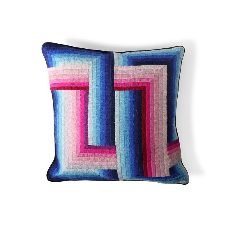 Jonathan Adler Bargello Velvet Throw Pillow Wayfair