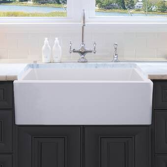 Dorn 33 L X 18 W Farmhouse Kitchen Sink With Grid And Strainer Reviews Birch Lane
