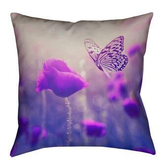 Lauralhome Steve Teal Bouquet Throw Pillow Reviews Wayfair