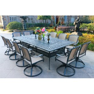 Barbeau Aluminum 13 Piece Dining Set