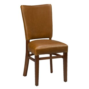 Chesebrough Beechwood Fully Seat Upholstered Dining Chair Loon Peak