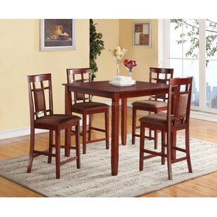 Hubbert 5 Piece Counter Height Dining Set