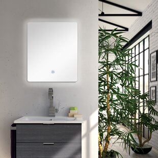 Low priced Saoirse LED-Backlit Wall Mounted Mirror By Orren Ellis