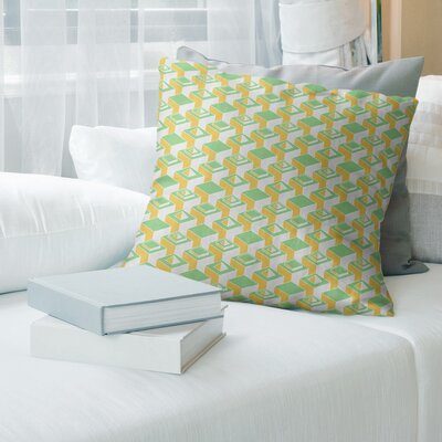 Brayden Studio Skyscrapers Pattern Throw Pillow Cover Brayden Studio Color Lighter Yellow Green Size 18 X 18 Cover Material Cotton Twill Dailymail