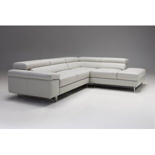 Orren Ellis Bradlee Leather Sectional