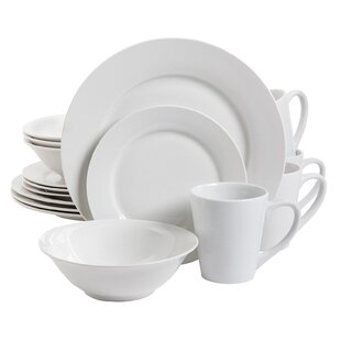Noble Court 16 Piece Earthenware Dinnerware Set, Service for 4