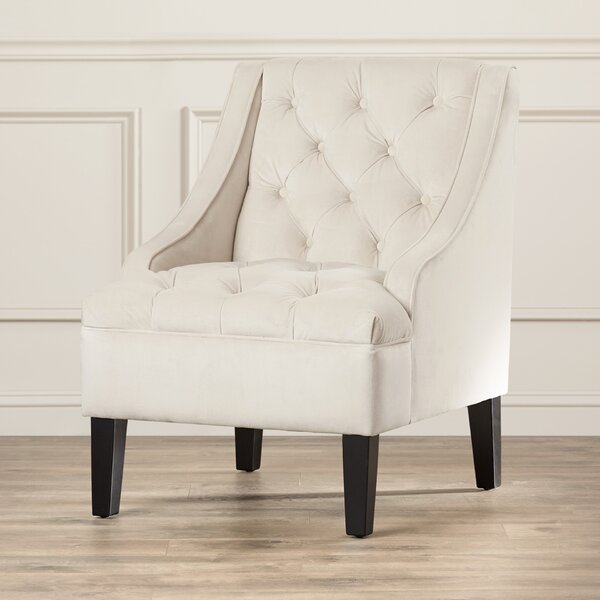 White Swoop Arm Chair | Wayfair