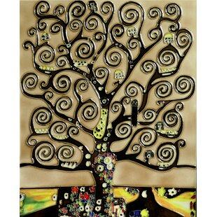 u0027Tree of Lifeu0027 by Gustav Klimt Wall Art  sc 1 st  Wayfair & Tree Of Life Wall Art Metal | Wayfair