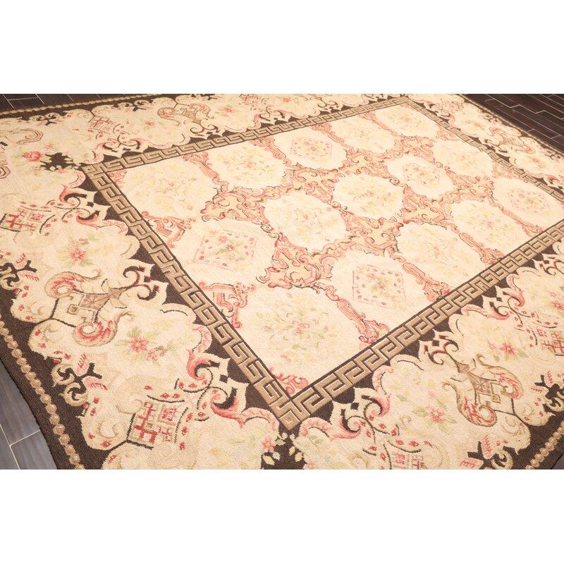 Astoria Grand Torquay Handmade Flatweave Wool Beige Rug Wayfair