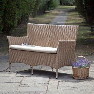 Pascal Rattan Garden Bench