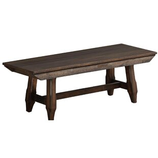 Carman Wood Bench by Gracie Oaks