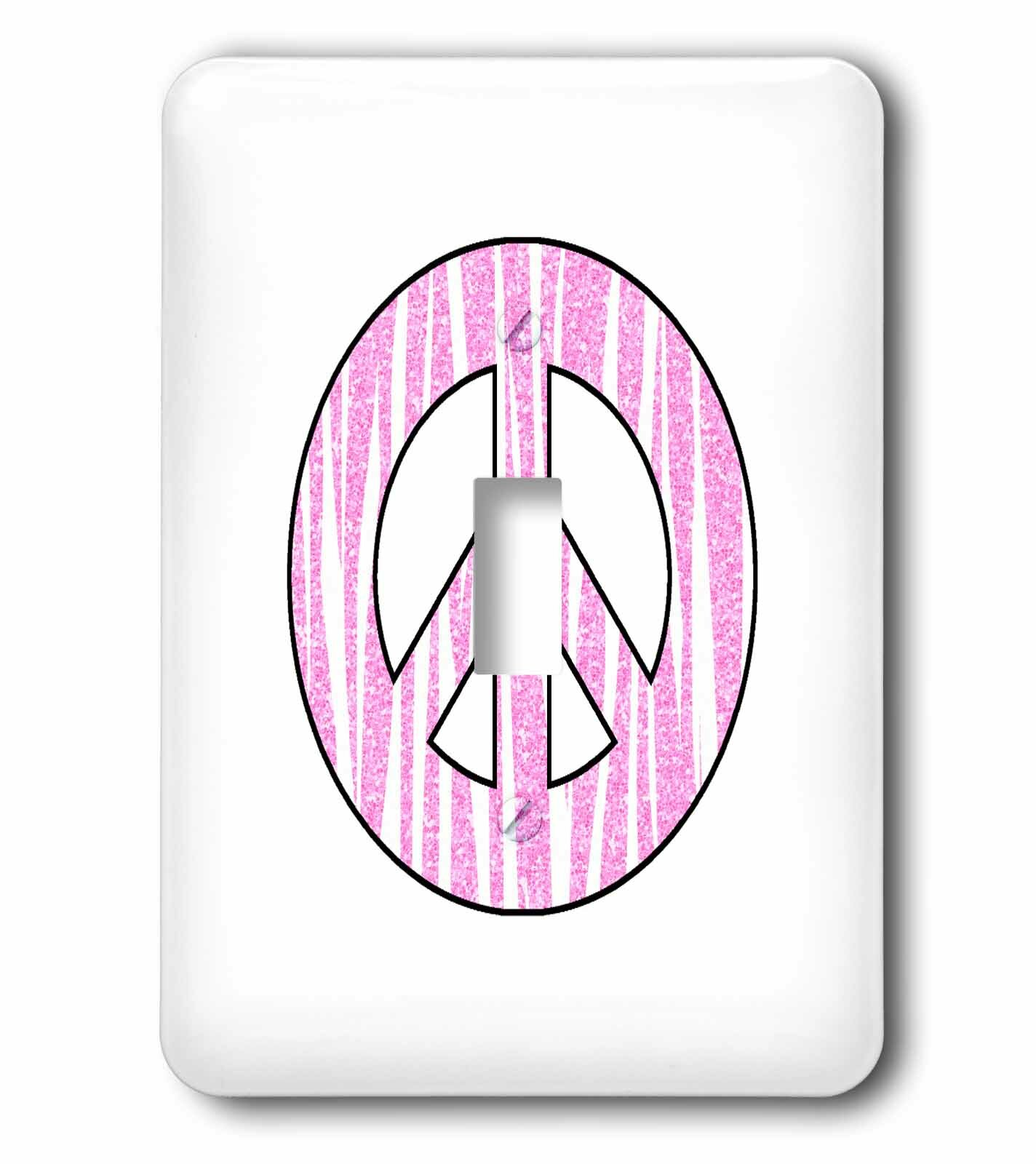 3drose Zebra Print Peace Sign Girly Chic 1 Gang Toggle Light Switch Wall Plate Wayfair