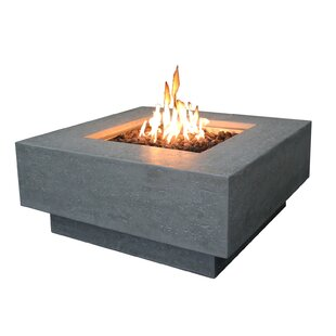 Concrete Propane Fire Pit Table By Elementi