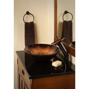 Find Sanguinello Glass Circular Vessel Bathroom Sink By Novatto