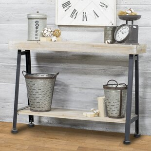 American Mercantile Wooden and Iron Console Table