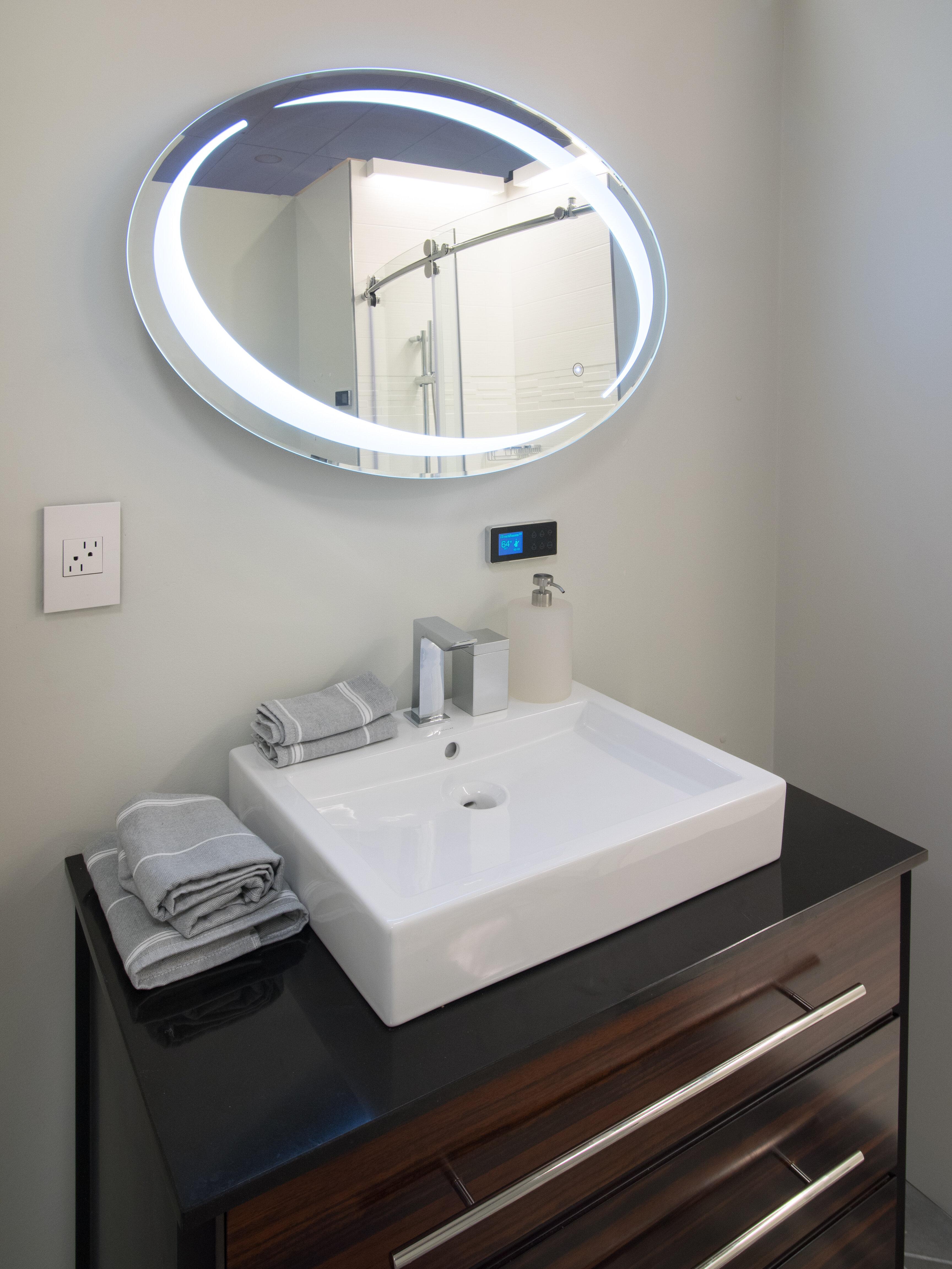 Sergena Oval LED Vanity Mirror | Wayfair