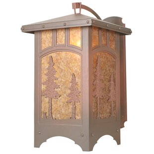 Compare prices Yair 1-Light Outdoor Wall Lantern By Loon Peak