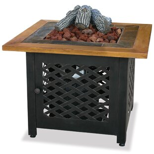 Uniflame Corporation LP Gas Outdoor Fire Pit with Slate and Faux Wood Mantel
