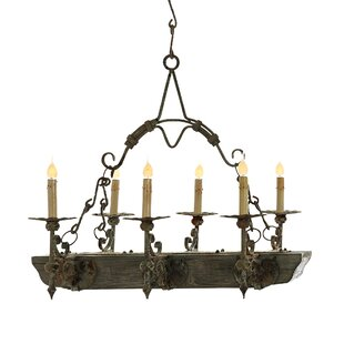 Best Luxury Candle Style Chandelier Made In The Usa Ellahome Trestle 6 Light Candle Style Geometric Chandelier