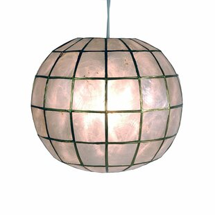 Affordable Nolan Princess Capiz 1-Light Hanging Pendant By World Menagerie