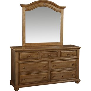 Taylor 7 Drawer Double Dresser With Mirror by Fairfax Home Collections Cool