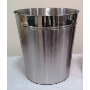Fashion Home Stainless Steel 3 Gallon Waste Basket
