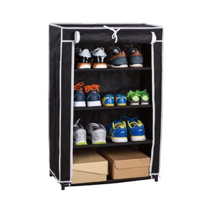 Roll-Up 16 Pair Shoe Rack By Above Edge Inc.