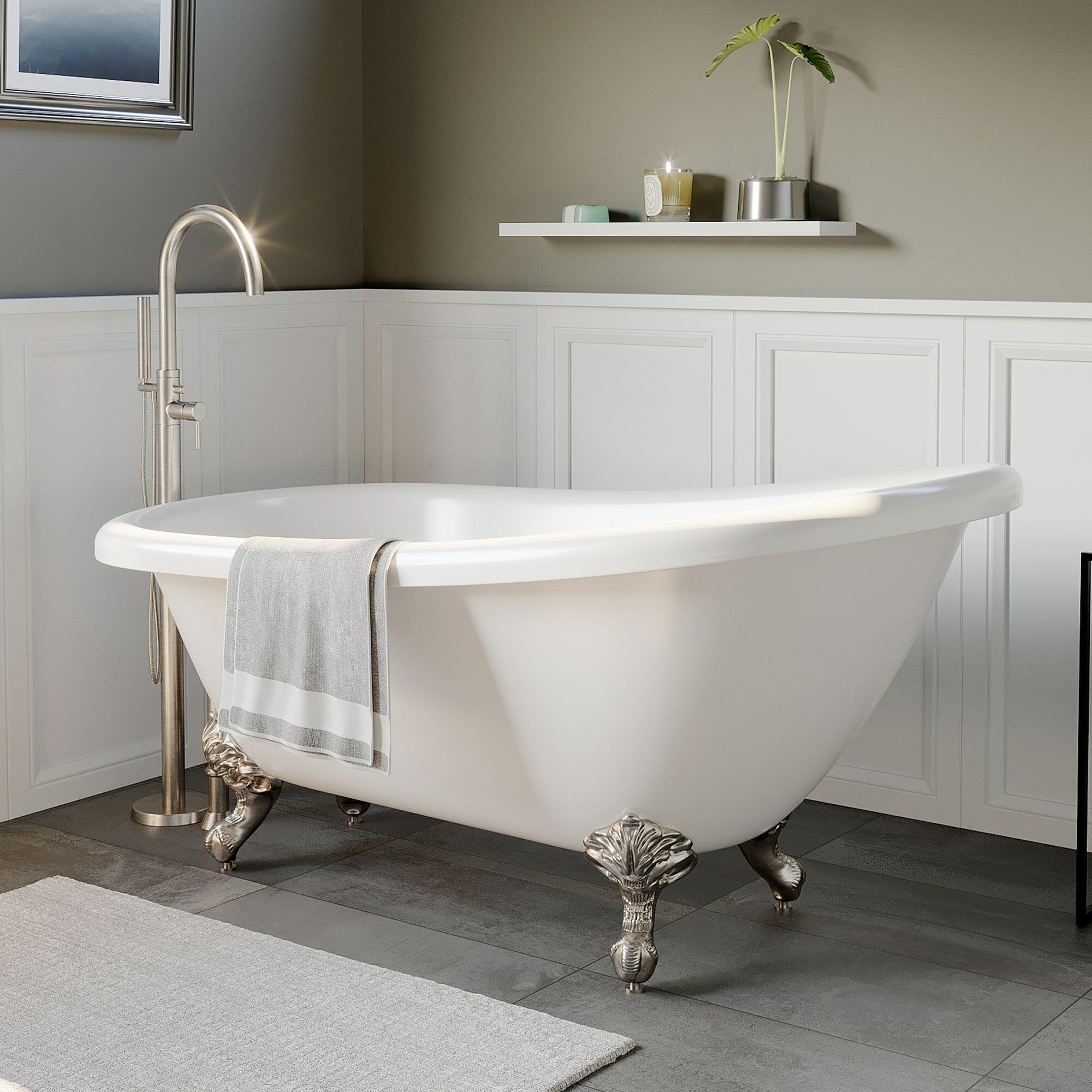 61 X 28 Clawfoot Soaking Bathtub