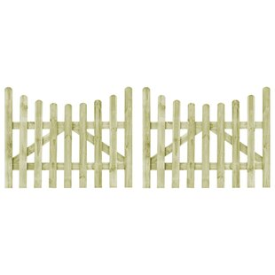 Yeats Garden 5' X 4' (1.5m X 1.2m) Wood Gate (Set Of 2) By Sol 72 Outdoor