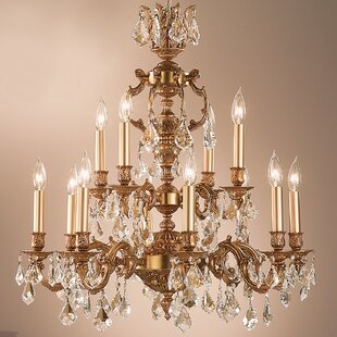 Classic Lighting Chateau 12-Light Candle Style Chandelier