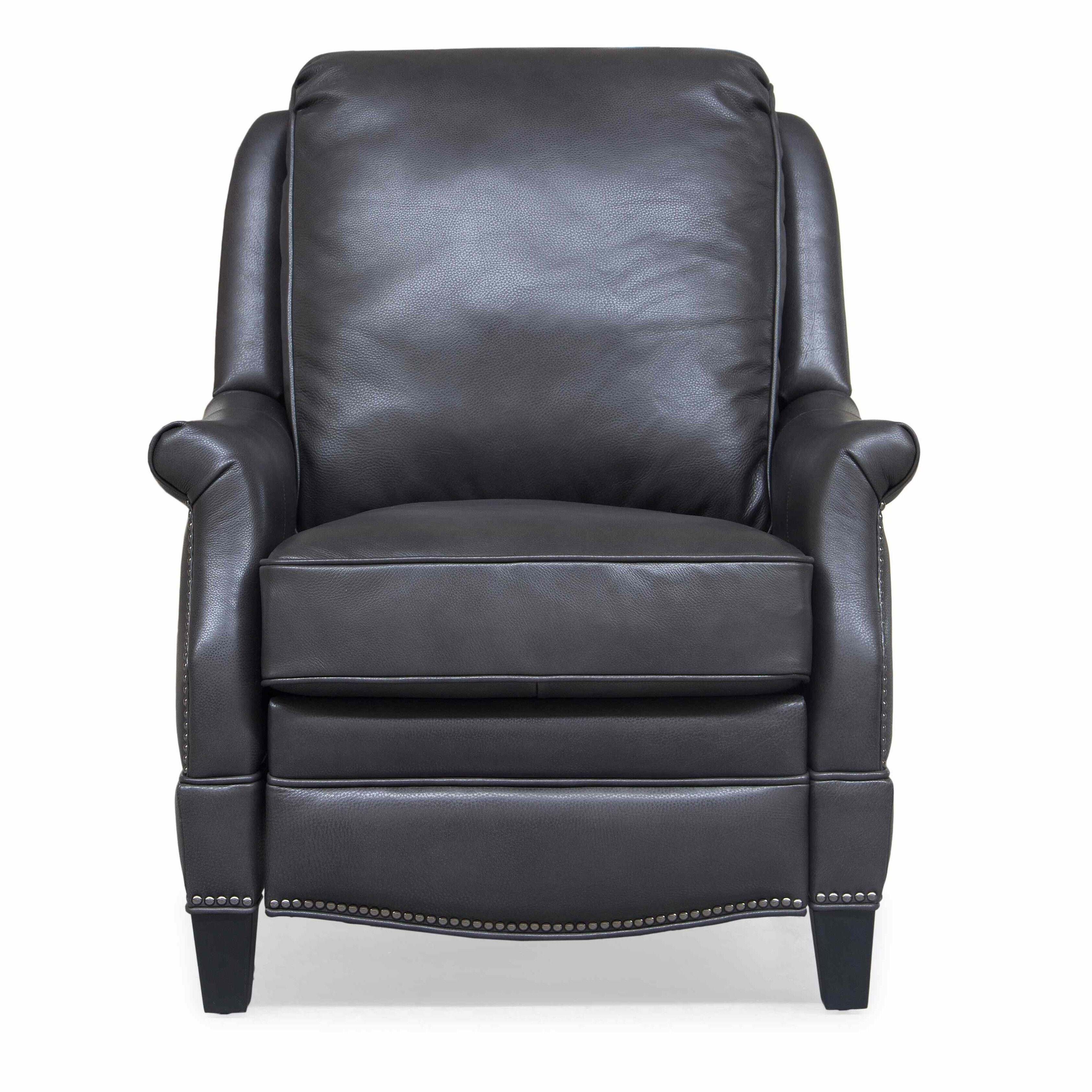 Acuna Genuine Leather Manual Recliner Reviews Birch Lane