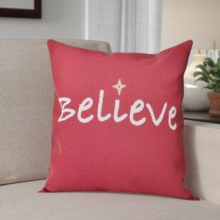 Believe Print Throw Pillow