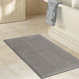 Top Reviews DeMontfort Non Slip Bathroom Soft Bedroom Microfiber Bath Rug ByRed Barrel Studio