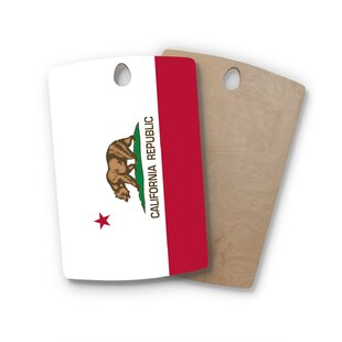 Bruce Stanfield Birchwood California State Flag Cutting Board By East Urban Home