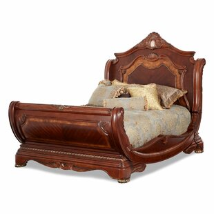 Cortina Solid Wood Sleigh Bed