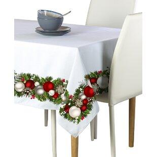 Emmett Christmas Garland Border Tablecloth