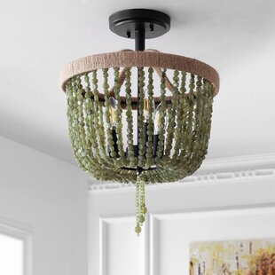 Linzy 3-Light Semi Flush Mount by Bungalow Rose