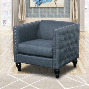 Labrie Modern Nail-head Fabric Arm Chair