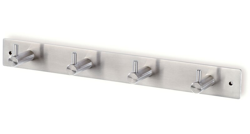 44 364 Wall Mounted Stainless Steel Hook Rail