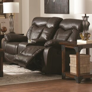 Pomona Motion Leather Reclining Sofa by Loon Peak