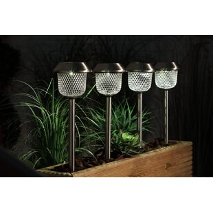 Riam Solar Mesh 1 Light LED Pathway Lights (Set Of 4) By Sol 72 Outdoor