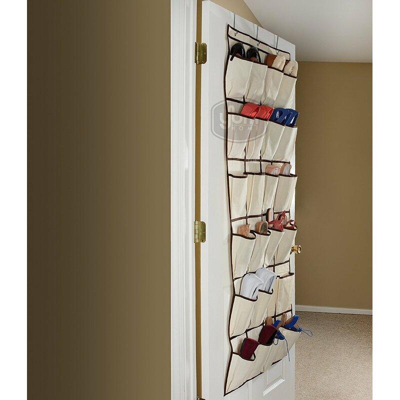 bb47584878 Rebrilliant Pocket Fabric Storage Rack 12 Pair Hanging Shoe Organizer