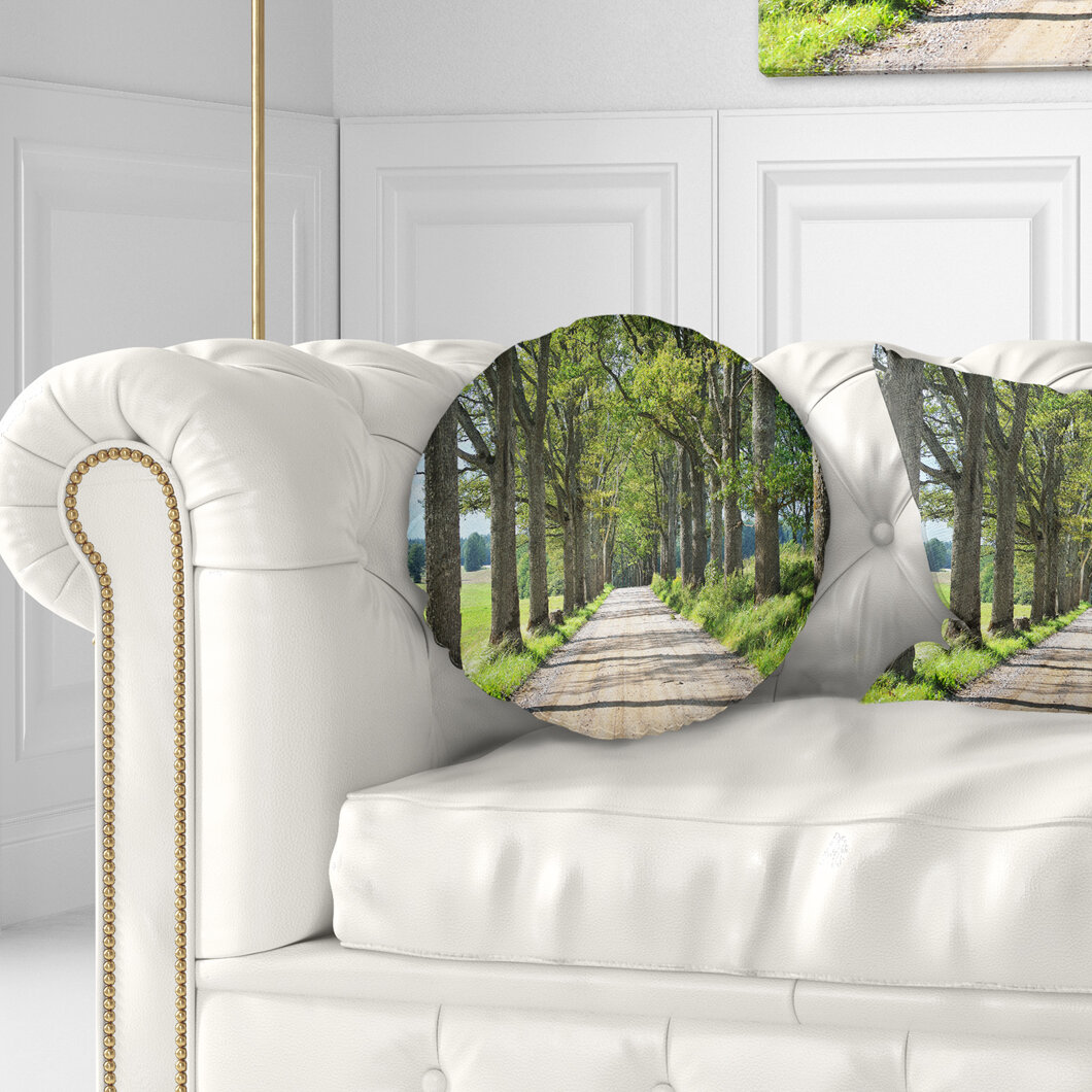 Admirable Landscape Photography Old Road Through Alley Throw Pillow Inzonedesignstudio Interior Chair Design Inzonedesignstudiocom