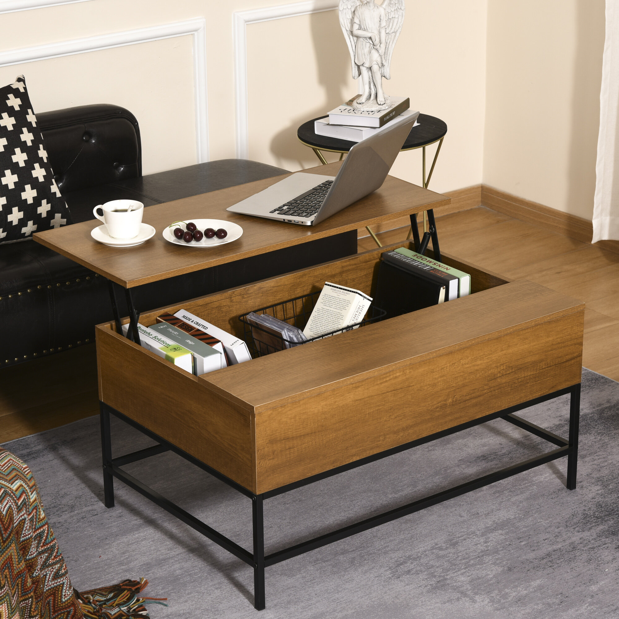 Trent Austin Design Matthew Lift Top Coffee Table With Storage Reviews Wayfair