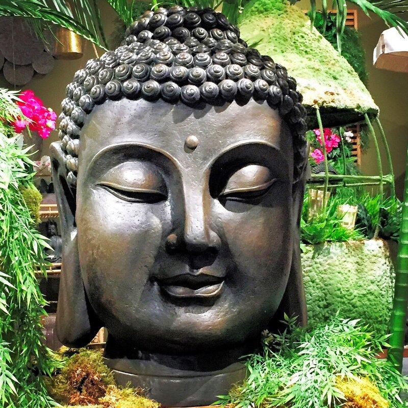 massive buddha garden bust - Buddha Garden