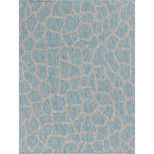 Murrell Blue/Gray Indoor/Outdoor Area Rug