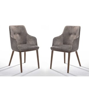 Goldenberg Upholstered Dining Chair (Set of 2) Wrought Studio